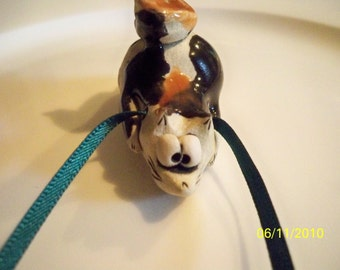 KITTY Whistle  //  Pottery Cat Whistle //  Signed and One Of A Kind //  OOAK