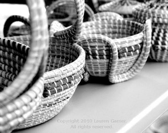 Family Tradition - Basket Charleston SC Photography Black and White Lowcountry South Carolina Sweetgrass Fine Art Print - 8x10 Photograph