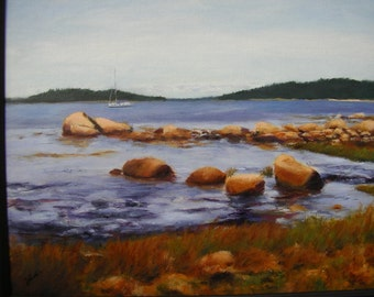Peaceful Harbor- A quiet moment in Maine.