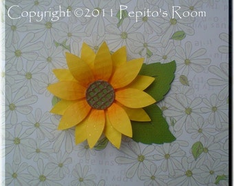 PRA Girasol (Sunflower) Accent SVG file - Scrapbooking, Card making, 3D Projects