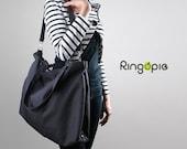 Sale 20%OFF-Charcoal gray with handle&removable/adjustable strap/totes/school/laptop/messenger/bags/shoulder/Diaper/handbags/shoulder-045