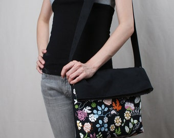 Sale20%OFF-Ready To Ship-Mysterious Garden Messenger Bag/purse/shoulder/bags/handbags/handmade/casual/sling/messenger/For Her/For Him -085