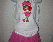 Strawberry Shortcake Shirt or Onesie or dress-any size-