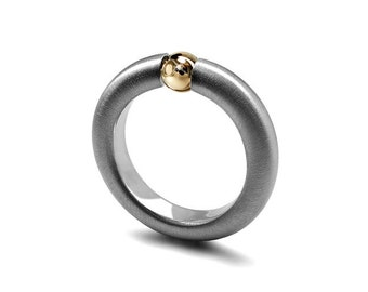 Gold & Stainless Steel Two Tone  Ring Tension Set