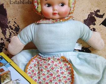 Vintage Doll, Topsy Turvy, Knickerbocker, Baby Doll, Sleeping / Awake, Union Label, Hong Kong, Happy / Sad, Christmas Two-fer Toy, Plaything