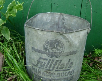 Minnow Bucket, Frabill's FullFlote, Milwaukee Wisconsin, Metal, Handle, Gone Fishin', Gift for Dad, Father's Day