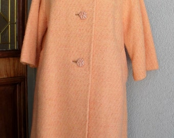 PRETTY as a PEACH 1960s Textured Wool SWing Coat