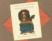 Vintage Dog Halloween Card - Lola's Trick or Treat Bag