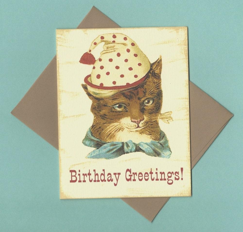 vintage birthday cats cat - photo #11