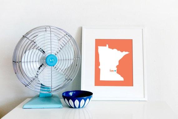Minneapolis is My Home // St. Paul // Twin Cities // 8x10 Digital Minnesota Print