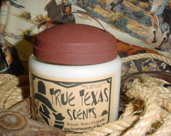 Texas Two Steppin' - (Vanilla Cotton scented) 16 oz Western Cowboy Candle