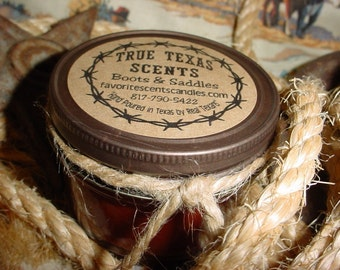 Back in the Saddle -  4 oz Texas Western Cowboy Candle