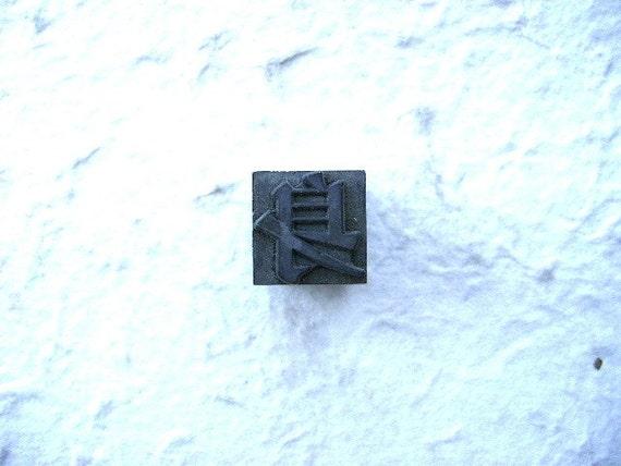 Vintage Japanese Typewriter Key Stamp BODY Showa Period L Size