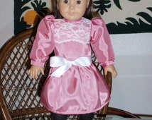 1900s Edwardian Party Dress for American Girl Samantha Nellie 18 inch doll