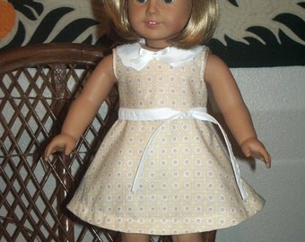 1930s Summer Dress for American Girl Kit or Ruthie or other 18 inch doll