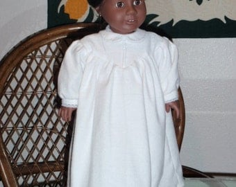 1800s Flannel Nightgown for American Girl Addy Cecile Marie Grace or other 18 in