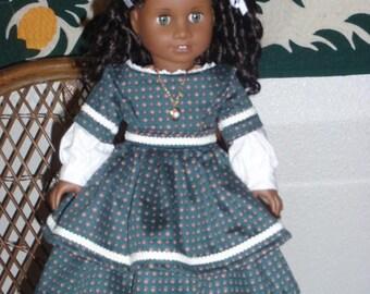 Mid 1800s Civil War Era Dress American Girl Cecile Marie Grace Addy 18 inch doll