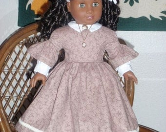 Mid 1800s Civil War Era Day Dress for American Girl Cecile Marie Grace Addy 18 inch doll