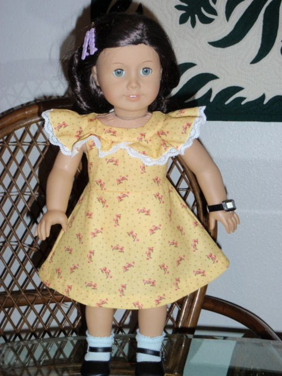1930s Spring Dress for Kit or Ruthie or other 18 inch doll