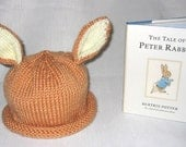 Boston Beanies Peter Rabbit Hat, Knit Baby Hat and Book