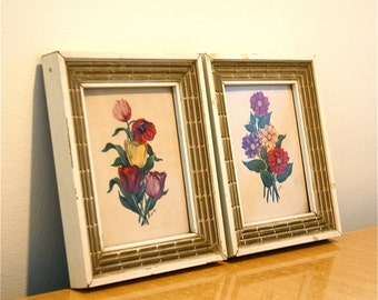 Pair of Framed Botanical Prints // SALE // Vintage