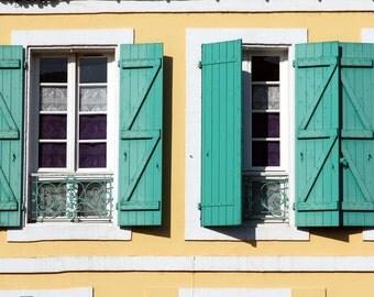 Windows and Doors, Fine Art Print, France, Europe
