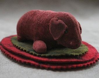 Antique Puppy Dog Wool Felt Pen Wipe