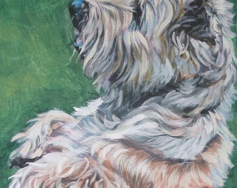 cairn terrier dog art CANVAS print of LA Shepard painting 11x14