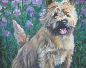 CAIRN TERRIER dog portrait art print canvas PRINT of LAShepard painting 8x10