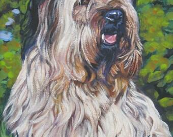 Skye Terrier dog art CANVAS print of LA Shepard painting 12x16