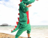 Loved Up Dragon Onesie - all-in-one fancy dress adult animal costume