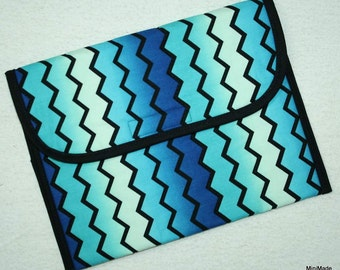 Tech Sleeve or Envelope for iPad, Machine quilted