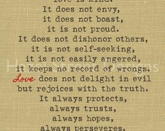 Love is Patient...Digital Print 8x10