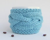 Tea Cozy, Coffee Cozy, Coffee Cup Sleeve, Cup Warmer, Knit Coffee Cozy, Coffee Mug Cozy, Coffee Cup Cozy, Knit Coffee Sleeve, Gifts Under 20