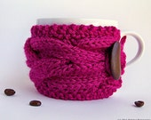 Knit Cup Cozy, Coffee Mug Cozy, Coffee Cup Sleeve, Coffee Cup Cozy, Coffee Sleeve, Coffee Cozy, Tea Cozy, Gifts Under 20