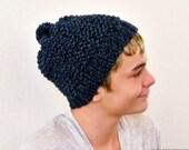 Mens Beanie Hat, Mens Slouchy Beanie, Mens Slouchy Hat, Mens Slouch Beanie, Mens Slouch Hat, Mens Knit Hat, Mens Knit Beanie Mens Pom Beanie