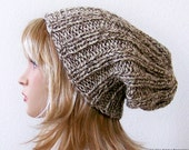 Slouchy Hat in Oatmeal - Slouchy Beanie - Slouch Beanie Hat - Chunky Knit Hat - Winter Wool Hat - Womens Hat - Mens Hat Earth Nature Natural - natalya1905