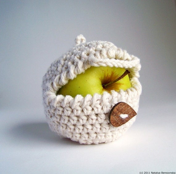 Apple Cozy, Crochet Apple Cozy, Crochet Cozy, Apple Decor, Apple Kitchen Decor, Rustic Wedding Favors Fall Wedding Favors Gifts For Children