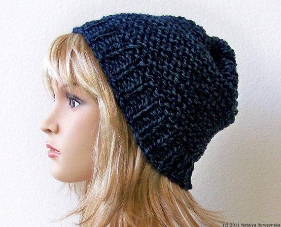 Slouchy Beanie Hat Slouchy Beanie Men Pom Pom Hat Winter Hat Men Knit Hat Men Knit Beanie Chunky Knit Hat Chunky Knit Beanie Slouch Hat
