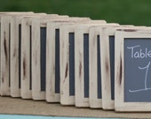 Table Number Chalkboards Rustic Wedding Decor