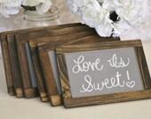 Wedding Chalkboards Rustic Signs Barn Wood Decor SET of 6 (item P10412)