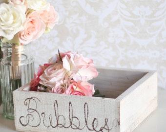 Wedding Bubbles Holder Rustic Tray (item P10151)