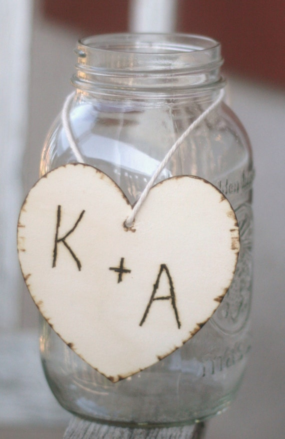 Items similar to set of wedding centerpiece charms wood