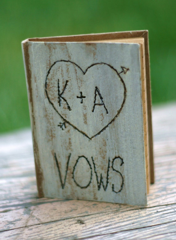 Wedding Vows Personalized Little Rustic Notebook (item E10287)