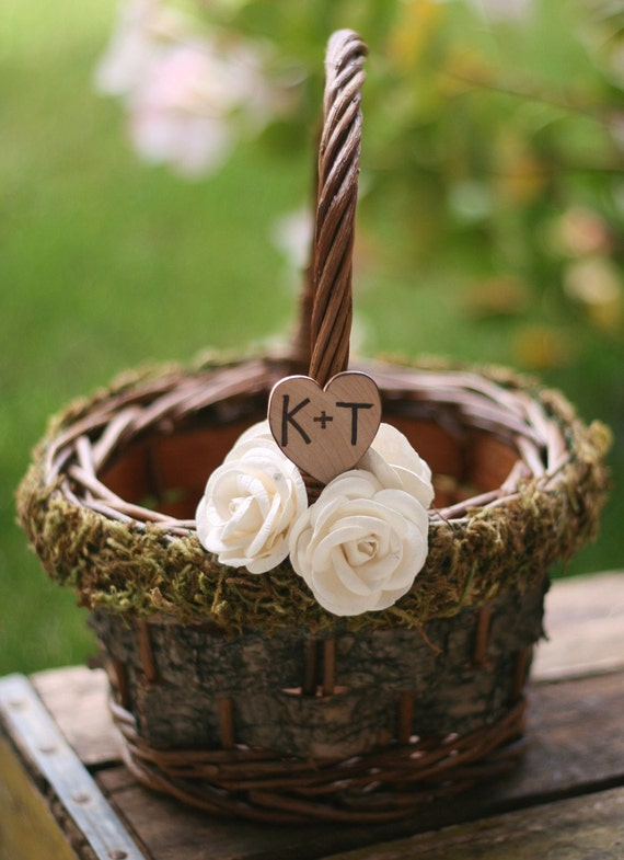 Flower Girl Basket Montreal : Items similar to personalized flower girl basket on etsy