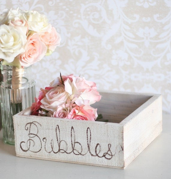 Wedding Bubbles Holder Rustic Tray (item P10151)