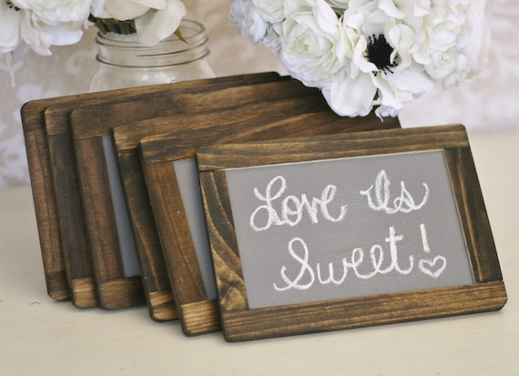 Wedding Chalkboards Rustic Signs Barn Wood Decor SET of 6 (item P10412)