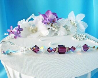 Ceiling Fan Pull Chain Amethyst Purple Room Decor Light Pulls Swarovski Crystal