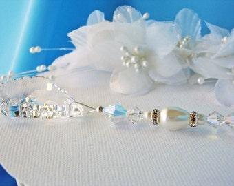 White Ceiling Fan Pull Chain Swarovski Crystal Light Pulls Shabby Chic Decor Hanging Crystal Prism