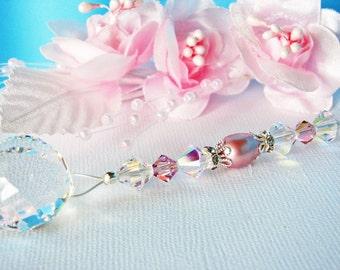 Ceiling Fan Pull Chain Pink Purple Little Girls Room Swarovski Crystal Light Pulls